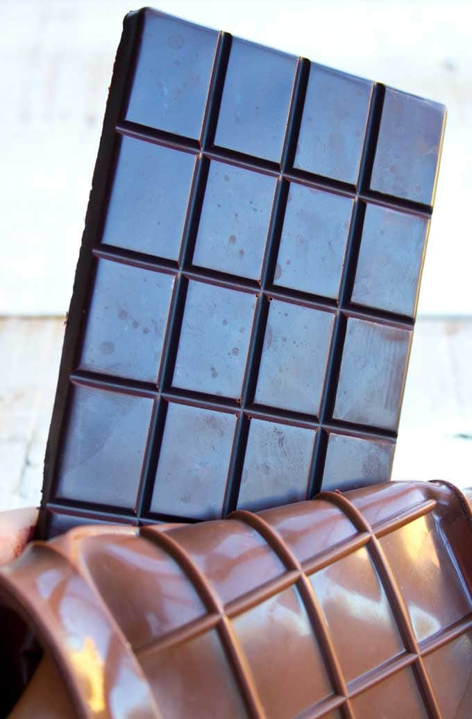 low carb chocolate bar and mold