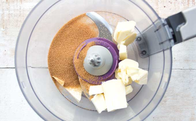 butter and erythritol in .a food processor