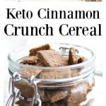 cinnamon cereal in a glass jar
