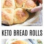 Soft, fluffy, sweet pull-apart Keto bread rolls