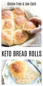 Soft, fluffy, sweet pull-apart Keto bread rolls