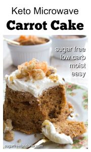 a keto carrot cake with cream cheese frosting