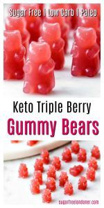 Keto sugar free gummy bears