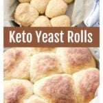 keto yeast rolls unbaked and baked