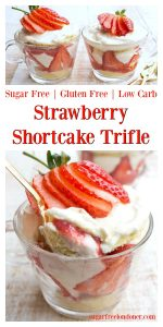 sugar free strawberry shortcake trifle