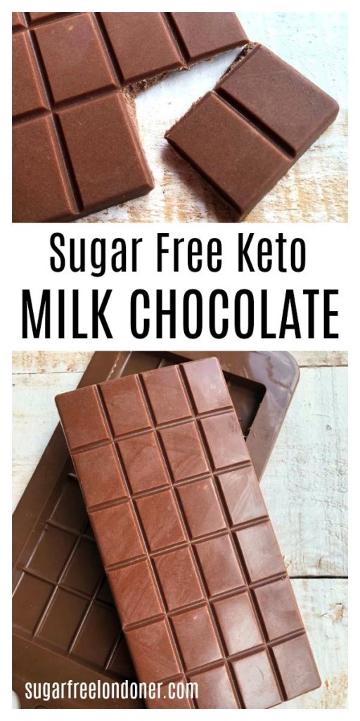 Low Carb Keto Milk Chocolate Recipe – Sugar Free Londoner