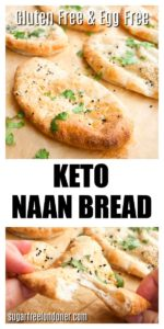 keto naan bread topped with cilantro