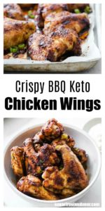 BBQ chicken wings in a bowl and in a baking pan
