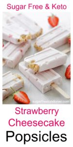 strawberry cheesecake popsicles with strawberries
