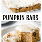 moist and fluffy low carb pumpkin bars with cream cheese frosting