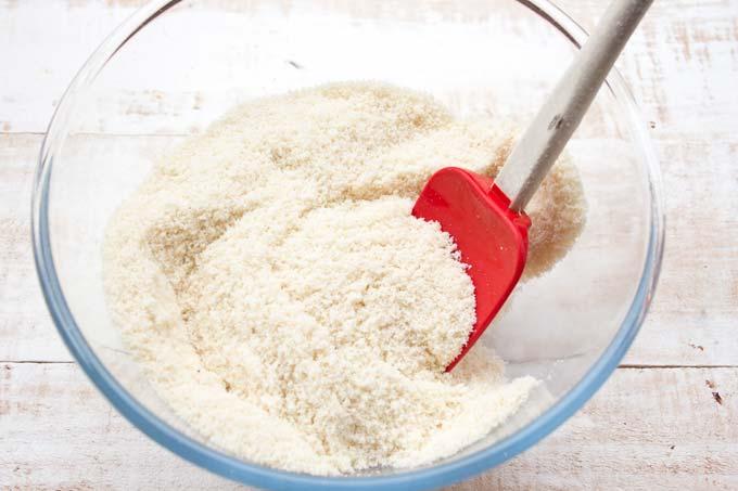 almond flour in a bowl
