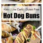 hot dog buns and a hot dog