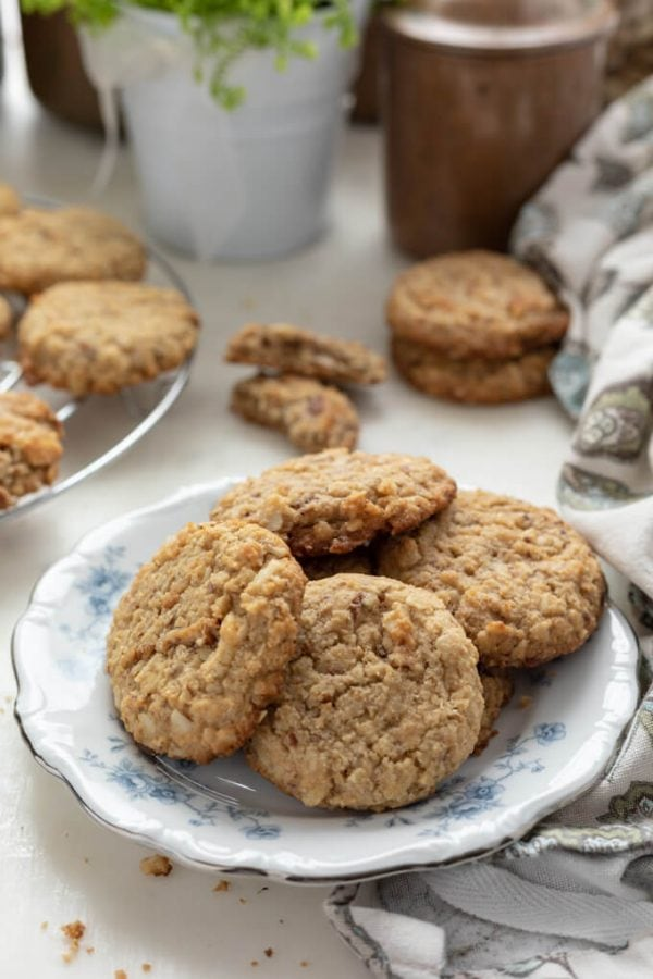 a plate with sugar free breakfast cookies
