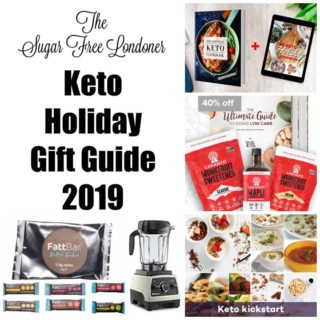 keto holiday gift guide with various keto products