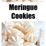 sugar free meringues piled high in a wooden bowl