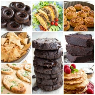 a collage of the top 10 low carb keto recipe images on sugar free londoner 2019