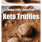 keto truffles rolled in cacao powder