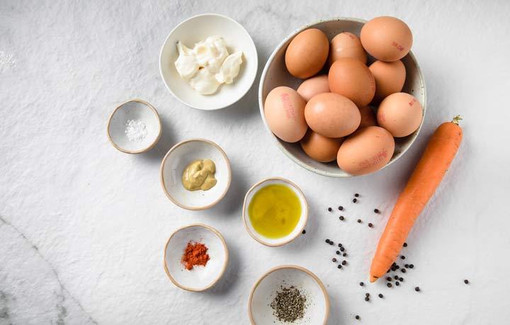 ingredients for deviled egg chicks