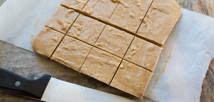 peanut butter fudge cut into squares