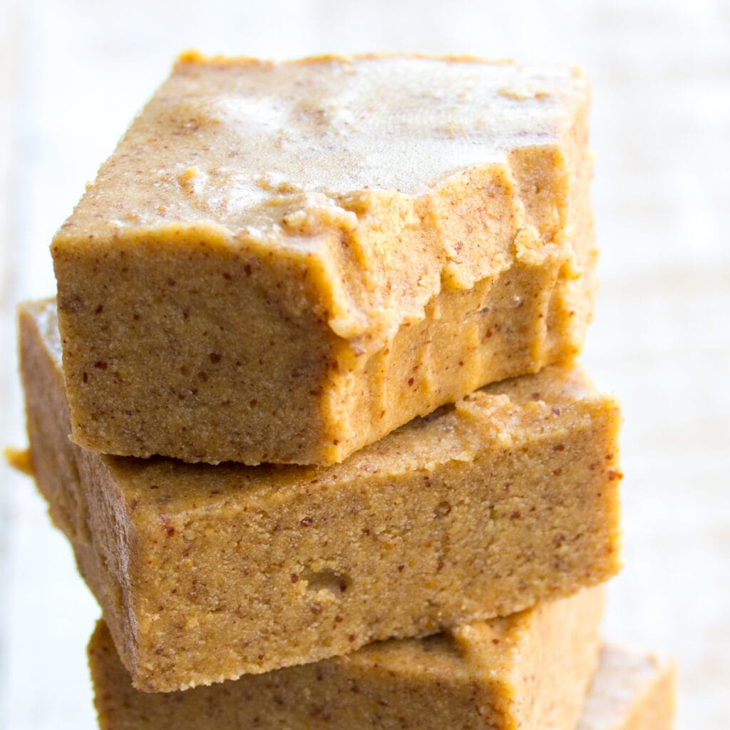a stack of keto fudge squares