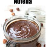 a jar with nutella