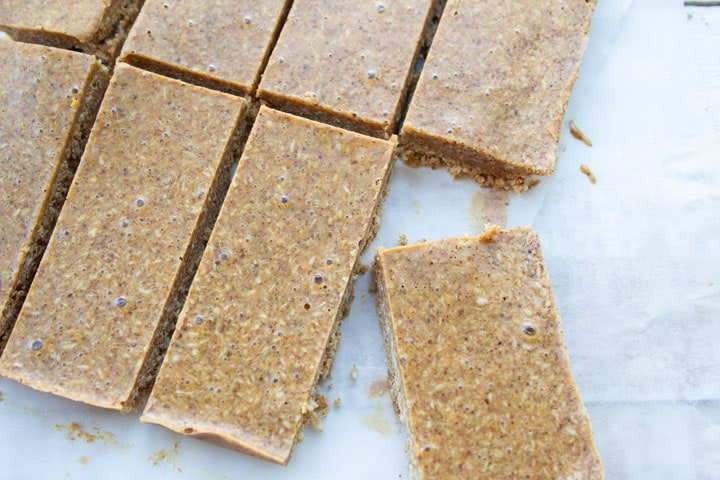 sliced snack bars