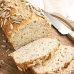 low carb bread loaf and bread slices