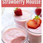 keto strawberry mousse pots