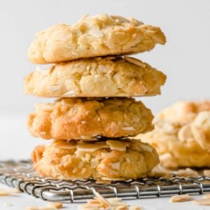 a stack of keto oatmeal cookies