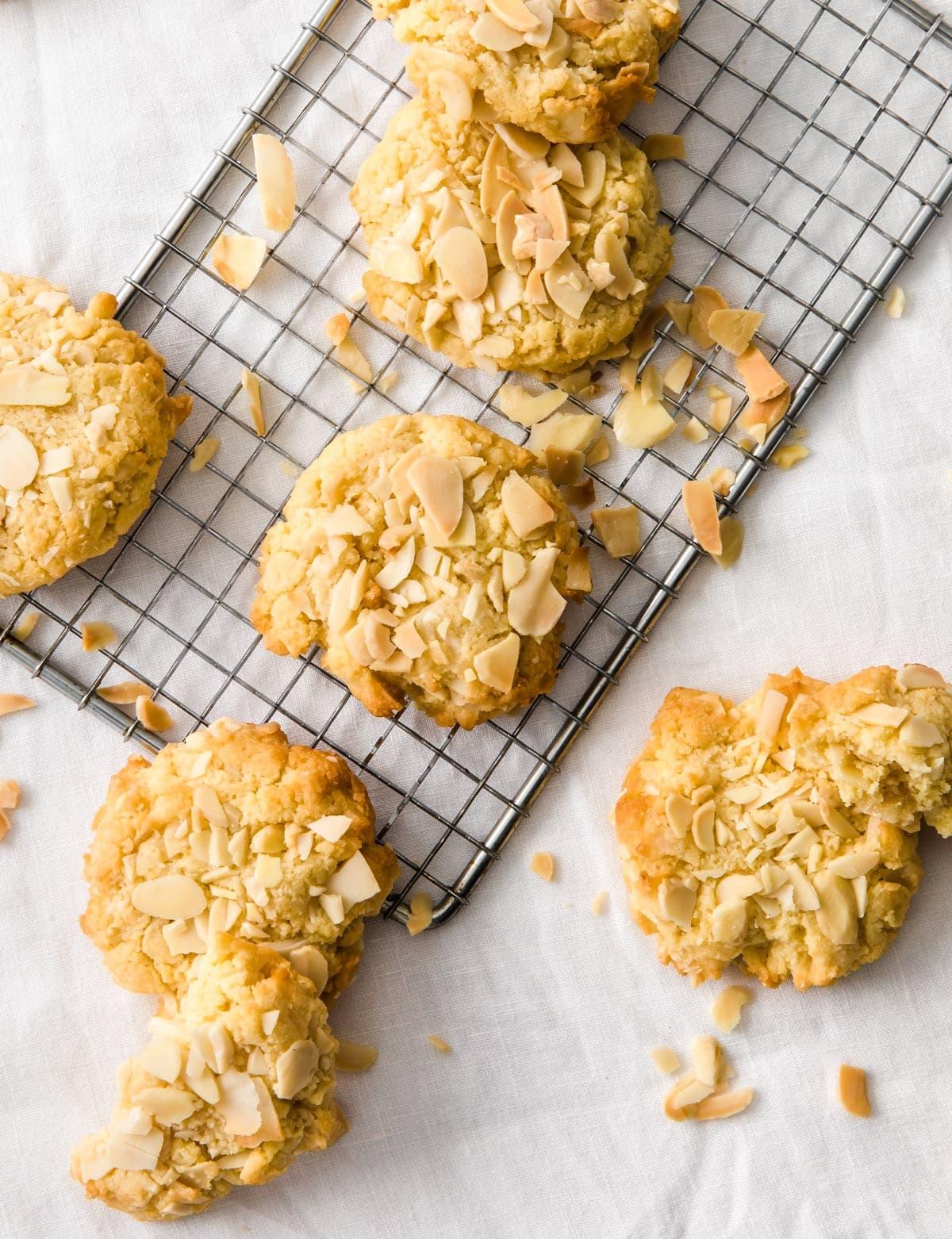 sugar free oatmeal cookies on a metal cooling rack