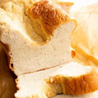 keto egg loaf sliced
