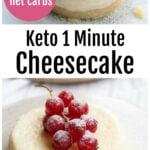 2 microwave cheesecakes - one with a crust and one without