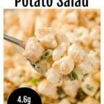 a spoonful of cauliflower potato salad