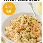 a bowl with cauliflower potato salad