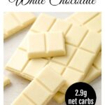 squares of sugar fere white chocolate stacked
