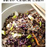 keto crack slaw in a bowl