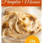 pumpkin mousse topped with cookie crumbles