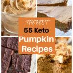 a collage of four keto pumpkin desserts