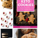 keto cookies cookbook collage pin