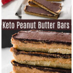 a collage pin of chocolate peanut butter bars