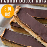 chocolate peanut butter bars pin