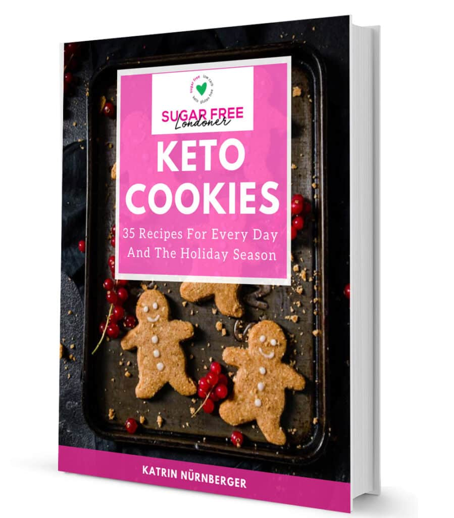 3D cover of the Keto Cookies Cookbook