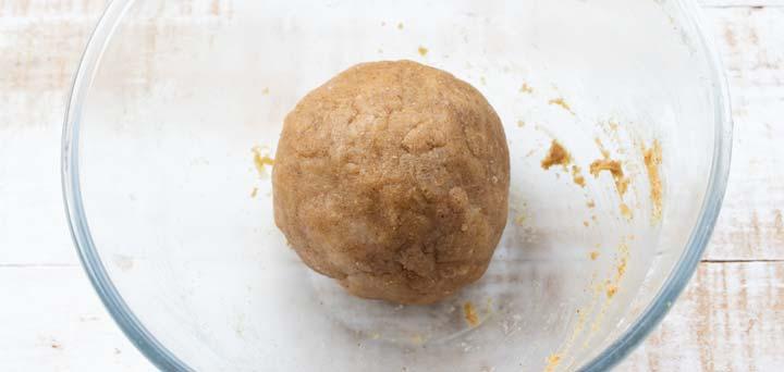 a dough ball in a bowl