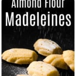 almond flour madeleines on a table