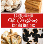 a collage of 4 keto christmas cookies