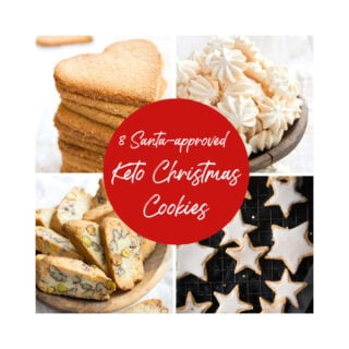 keto christmas cookies collage