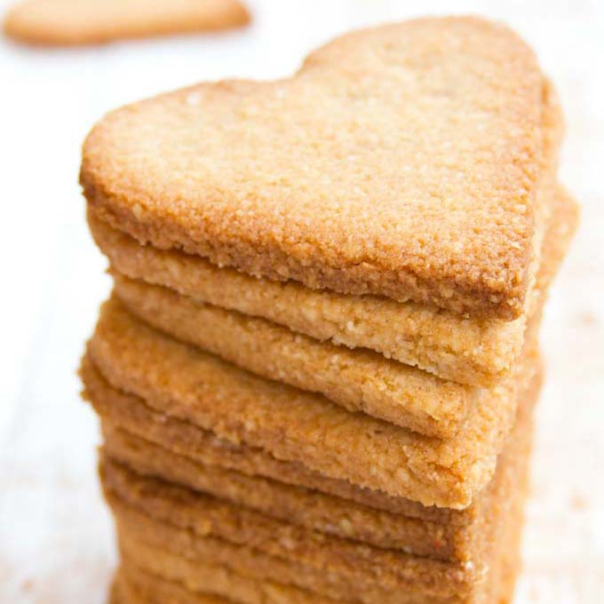 a stack of keto ginger cookies