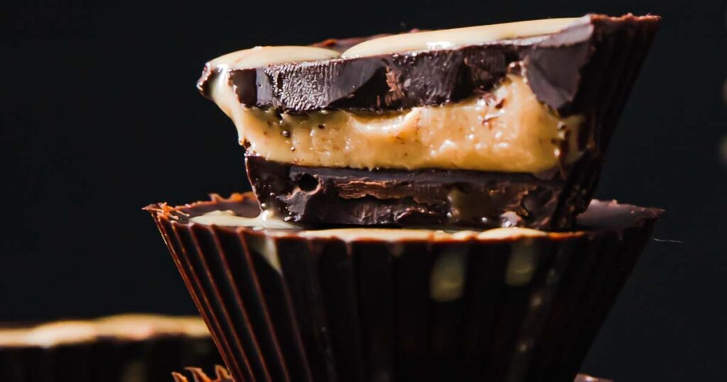 a halved peanut butter cup