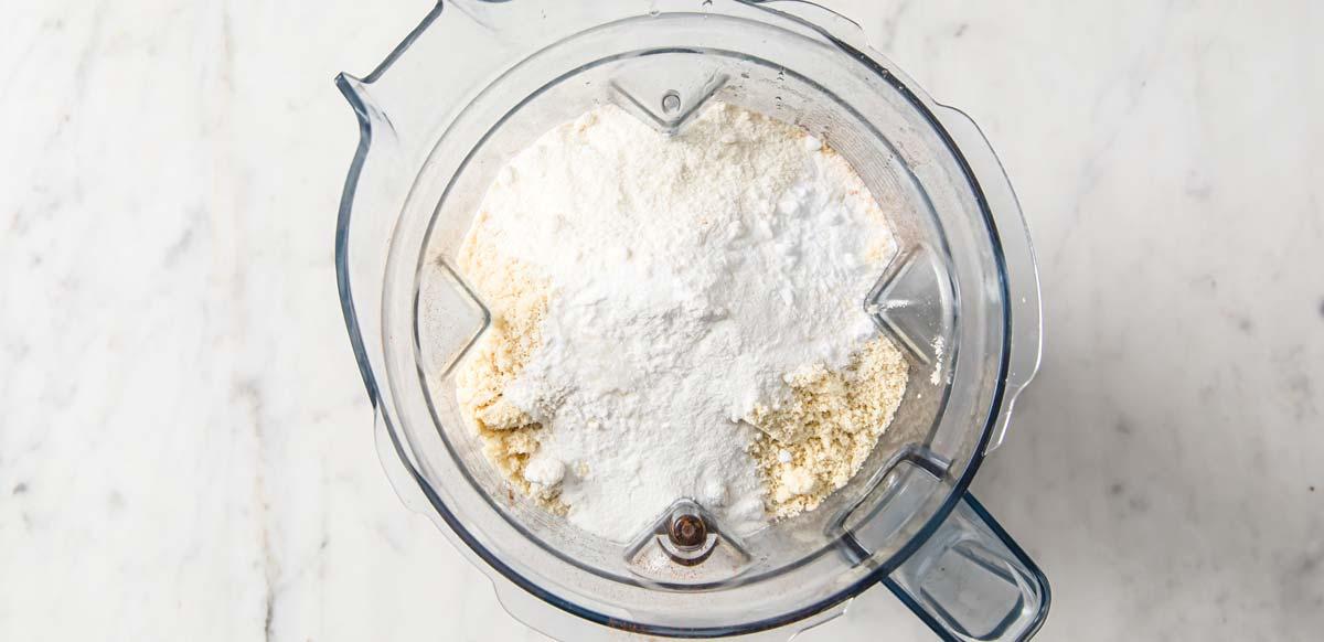 dry ingredients in a blender