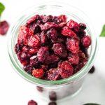 sugar free dried cranberries in a pot